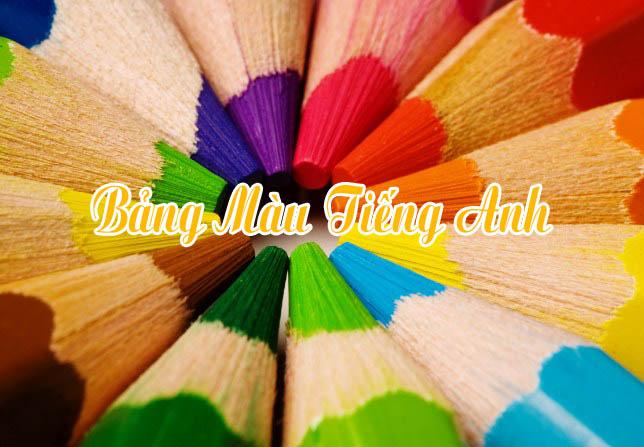 Bảng màu tiếng Anh