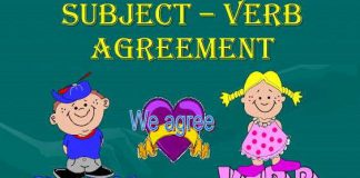 Sự hòa hợp giữa chủ từ và động từ trong tiếng Anh
