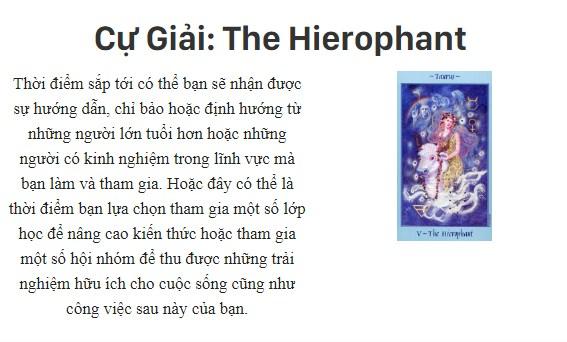 Bài tarot nói gì về cung hoàng đạoCự Giải: The Hierophant