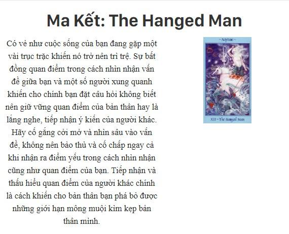 Bài tarot nói gì về cung hoàng đạoMa Kết: The Hanged Man