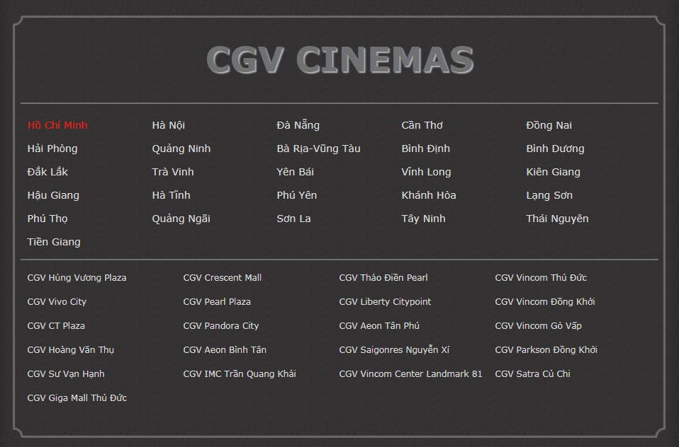 CGV Cinema