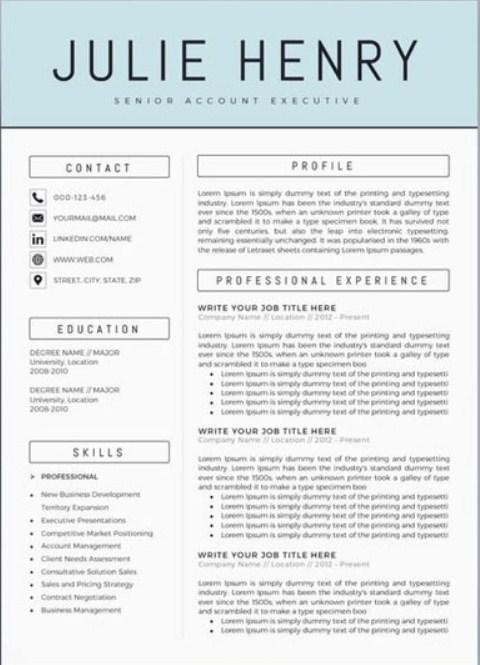 Tải miễn phí mẫu Resume đẹp chuyên nghiệp 2019